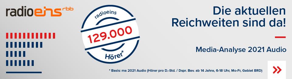 Die neue Reichweite MA2021 Audio radioeins