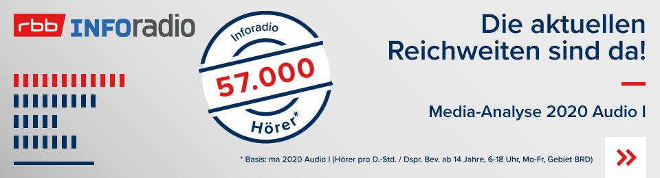 Die neue Reichweite MA2020 AudioI Inforadio