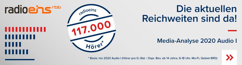 Die Reichweite MA2020 AudioI radioeins